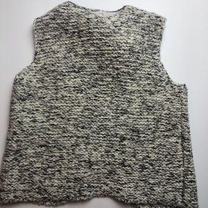 Zara Jackets & Coats - Zara Knitwear Black & White Vest